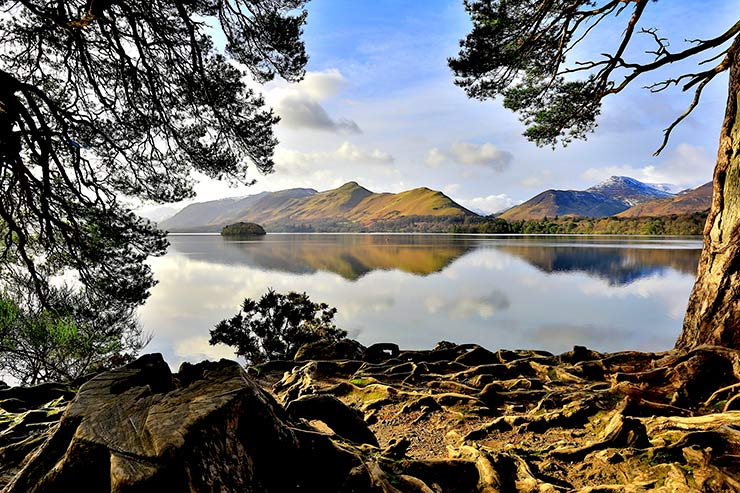 Derwentwater - about 5 miles from Setmabanning Farm