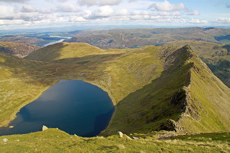 Striding Edge & Red Tarn from Helvellyn
