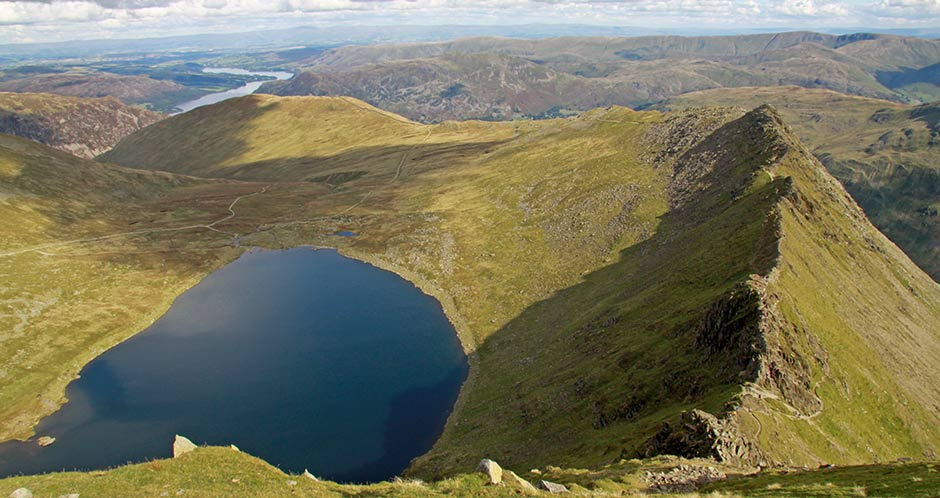 Striding Egde & Red Tarn from Hevellyn
