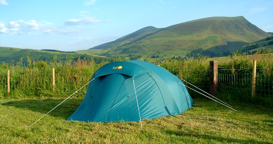 Skiddaw from Burns Farm Camping Site